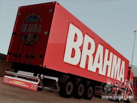 Trailer de Scania R620 Brahma para visión interna GTA San Andreas