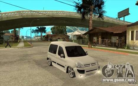 Citroen Berlingo 2007 para GTA San Andreas vista hacia atrás