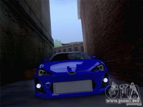 Subaru BRZ para la visión correcta GTA San Andreas