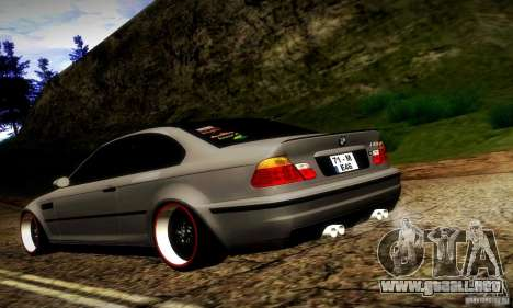BMW M3 JDM Tuning para GTA San Andreas vista posterior izquierda