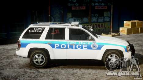 Chevrolet Trailblazer Police V1.5PD [ELS] para GTA 4 vista interior