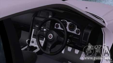 Nissan Skyline GTR-34 M-spec Nur para la visión correcta GTA San Andreas