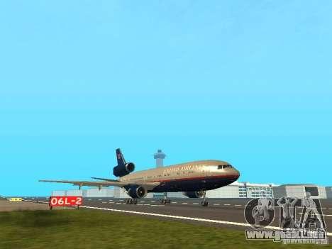 McDonell Douglas DC10 United Airlines para GTA San Andreas left