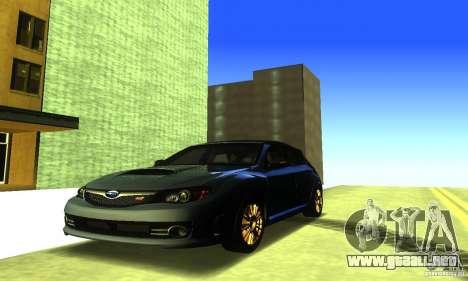 Subaru Impresa WRX STI 2008 para vista lateral GTA San Andreas