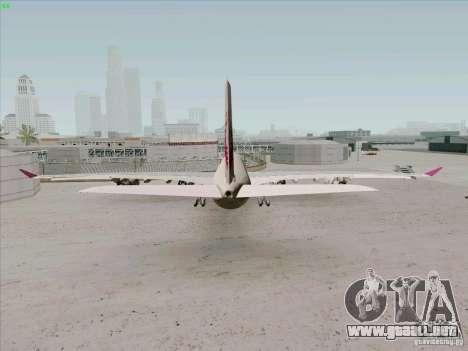 Airbus A-340-600 Quatar para GTA San Andreas vista posterior izquierda