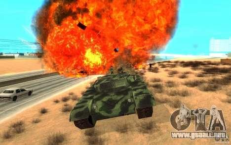 Tanque T-72 para visión interna GTA San Andreas