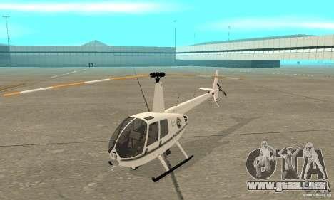 Robinson R44 Raven II NC 1.0 blanco para GTA San Andreas left