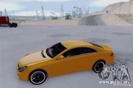 Mercedes-Benz CLS 63 AMG para GTA San Andreas vista posterior izquierda