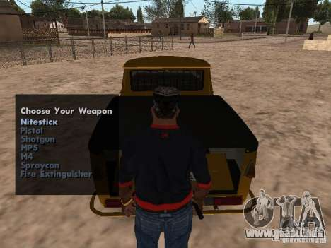 Armas en el maletero para GTA San Andreas segunda pantalla