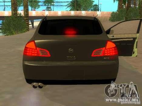 Nissan Skyline 300 GT para la visión correcta GTA San Andreas
