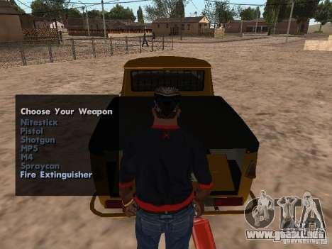 Armas en el maletero para GTA San Andreas tercera pantalla