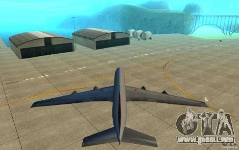 Qantas 707B para visión interna GTA San Andreas