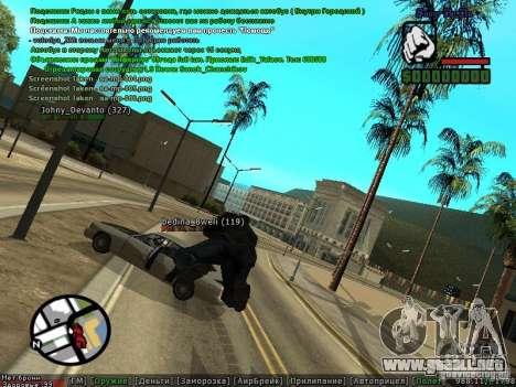 m0d S0beit 4.3.0.0 Full rus para GTA San Andreas segunda pantalla