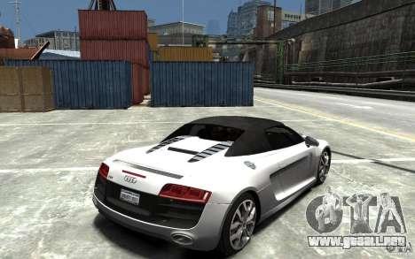 Audi R8 Spyder 5.2 FSI Quattro V4 [EPM] para GTA 4 vista lateral