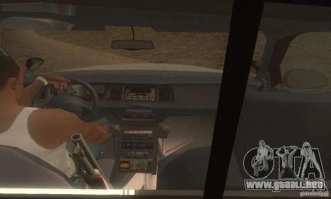 Ford Crown Victoria Louisiana Police para GTA San Andreas vista posterior izquierda
