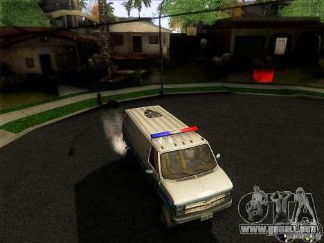 Chevrolet VAN G20 NYPD SWAT para la vista superior GTA San Andreas