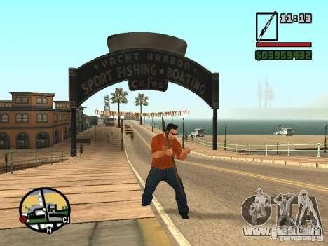 Lanza para GTA San Andreas quinta pantalla