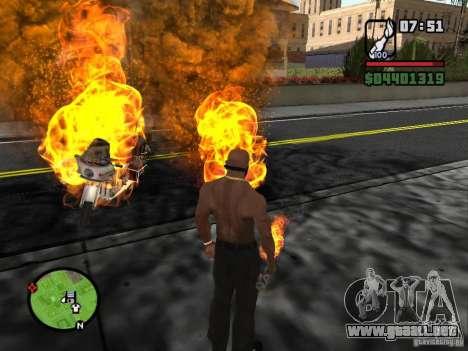 Molotov-cosacos para GTA San Andreas sucesivamente de pantalla