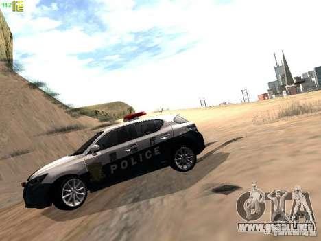 Lexus CT200H Japanese Police para la visión correcta GTA San Andreas