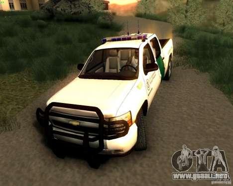 Chevrolet Silverado Police para la visión correcta GTA San Andreas