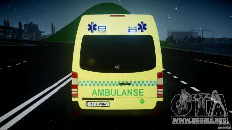 Mercedes-Benz Sprinter PK731 Ambulance [ELS] para GTA 4 ruedas