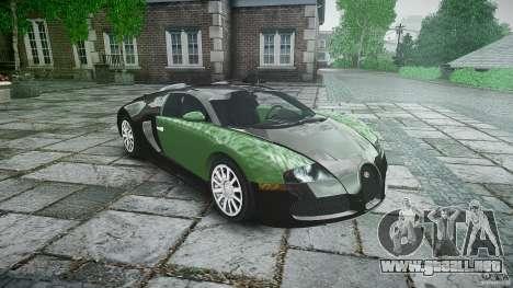 Bugatti Veyron 16.4 para GTA 4 vista hacia atrás