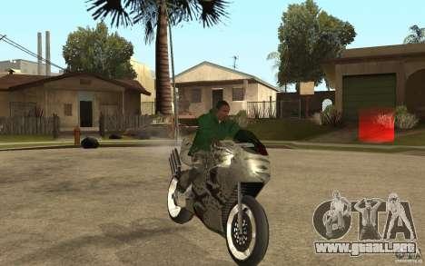Streetfighter NRG 500 Snakehead v2 para GTA San Andreas vista hacia atrás