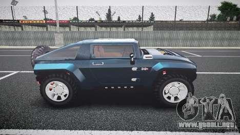 Hummer HX para GTA 4 vista interior