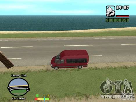 Mercedes-Benz 311 CDi para GTA San Andreas left