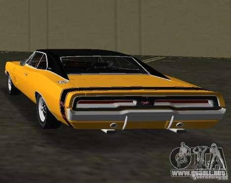 Dodge Charger RT 1969 para GTA Vice City vista lateral izquierdo