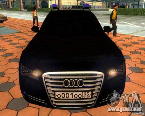 Audi A8 2010 v2.0 para la vista superior GTA San Andreas