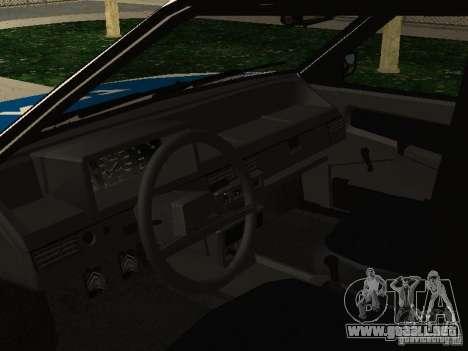 VAZ 2109 policía para la visión correcta GTA San Andreas