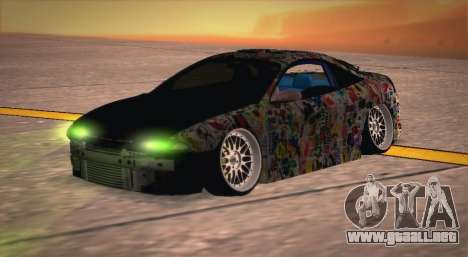 Mitsubishi Eclipse 1997 Drift para la visión correcta GTA San Andreas