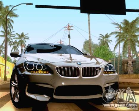 BMW M6 2013 para GTA San Andreas vista hacia atrás