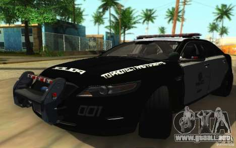 Ford Taurus 2011 LAPD Police para GTA San Andreas left