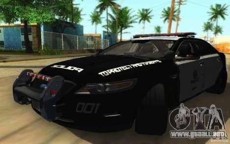 Ford Taurus 2011 LAPD Police para GTA San Andreas left