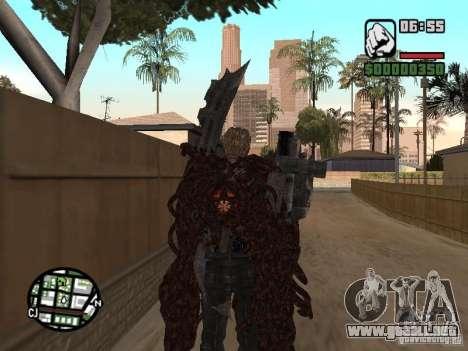 Wesker Ouroboros para GTA San Andreas tercera pantalla