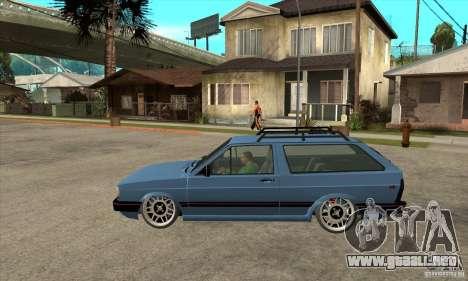 VW Fox 1989 v.2.0 para GTA San Andreas left