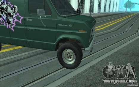 Ford E-150 Short Version v3 para visión interna GTA San Andreas