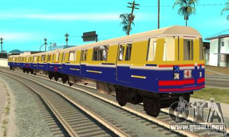 Liberty City Train Italian para GTA San Andreas vista posterior izquierda