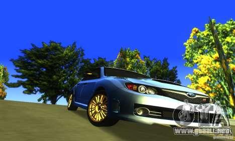 Subaru Impresa WRX STI 2008 para visión interna GTA San Andreas