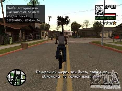Traducción original de 1 c para GTA San Andreas segunda pantalla