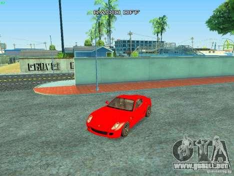 Ferrari 599 GTB para GTA San Andreas interior