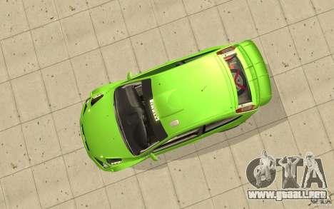 Ford Focus RS WRC 08 para la visión correcta GTA San Andreas