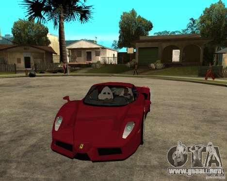Ferrari ENZO 2003 v.2 final para GTA San Andreas vista hacia atrás