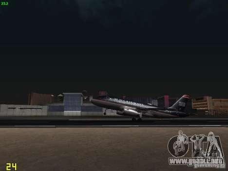 Airbus A319 USAirways para visión interna GTA San Andreas