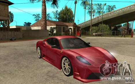 Ferrari F430 Scuderia para GTA San Andreas vista hacia atrás