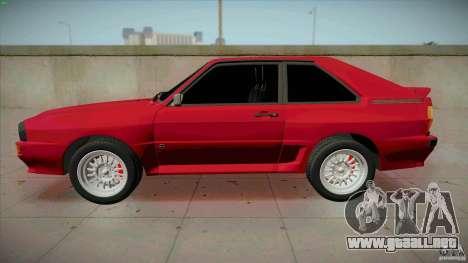 Audi Sport quattro 1983 para GTA San Andreas left
