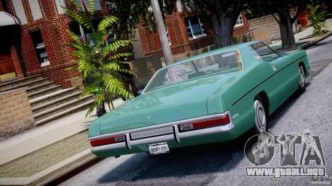 Mercury Monterey 2DR 1972 para GTA 4 Vista posterior izquierda