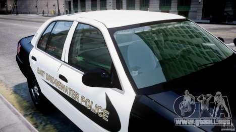 Ford Crown Victoria Massachusetts Police [ELS] para GTA 4 ruedas